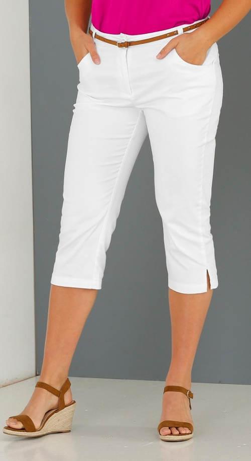 Tříčtvrteční dámské kalhoty s rozparky