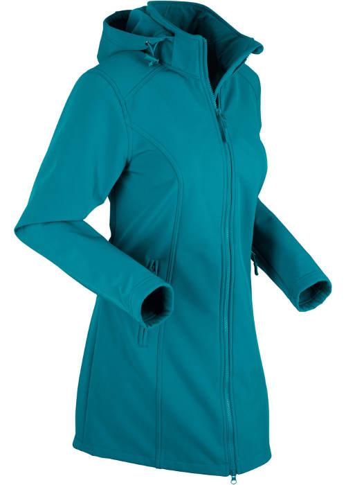 Tyrkysová softshellová dámská bunda