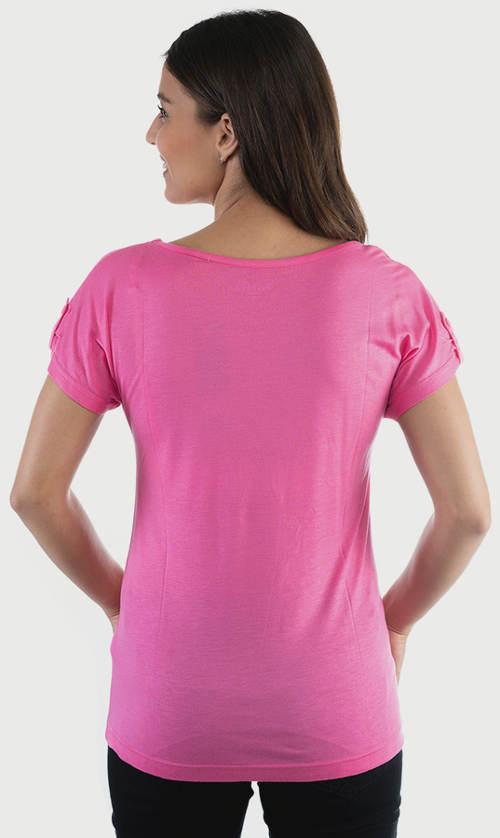 Vzdušné růžové letní tričko