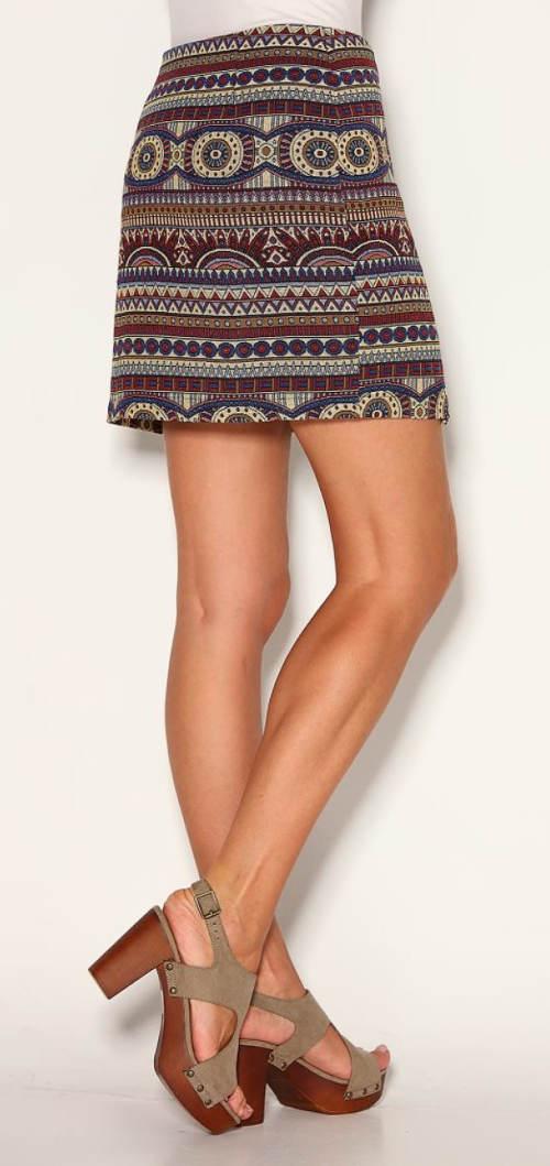 Žakarová mini sukně