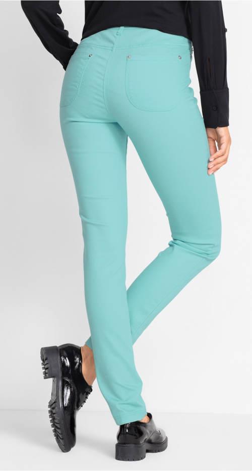 Zářivě modré strčové dámské džíny