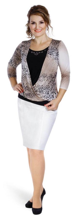 Elastická koženková sukně pro plnoštíhlé