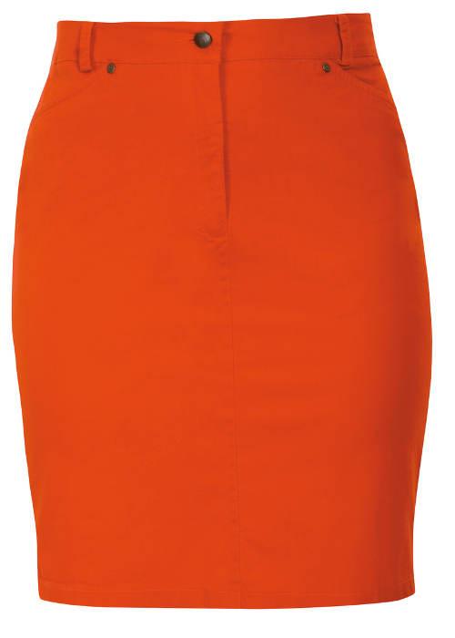 Oranžová letní sukně nadměrných velikostí