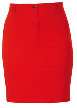 Strečová letní sukně pro plnoštíhlé