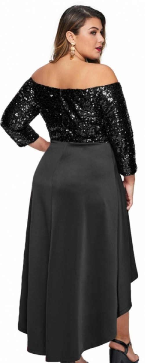 Černé dlouhé plesové šaty s flitry