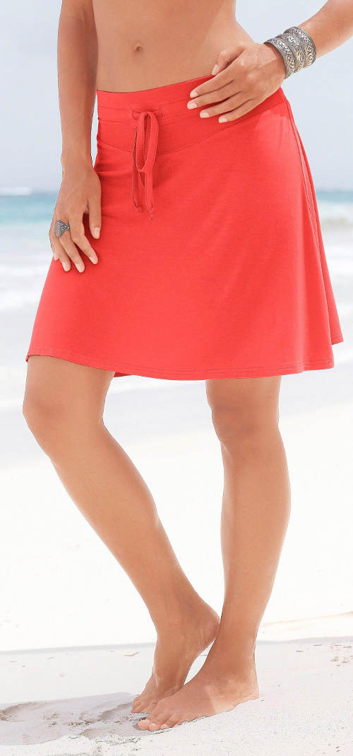 Červená XXL plážová sukně