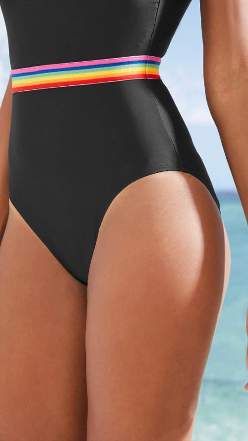 Dámské plavky zeštíhlující břicho a pas