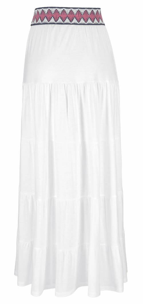 Dlouhá bílá letní sukně