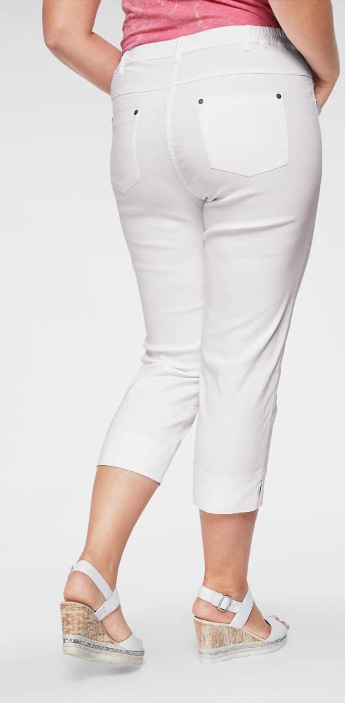 Krátké bílé dámské kalhoty