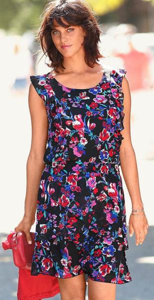 Květinové šaty pro plnoštíhlé - výprodej