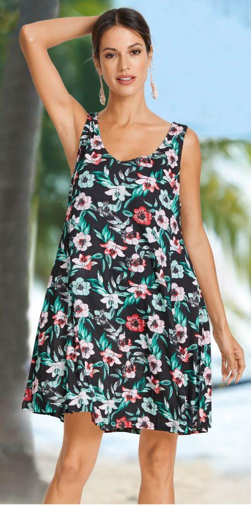 Levné květinové letní šaty