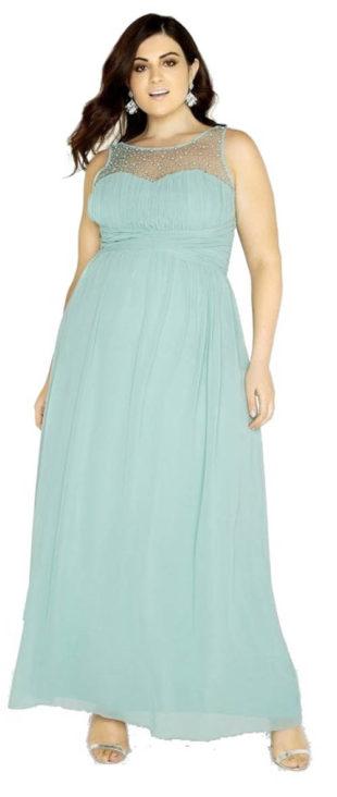 Plesové maxi šaty se zdobeným dekoltem