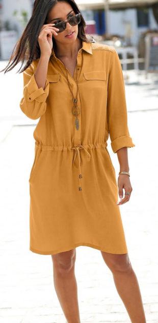 Pohodlné košilové letní šaty s límečkem
