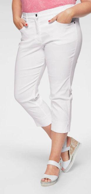 Pohodlné letní capri kalhoty pro plnoštíhlé