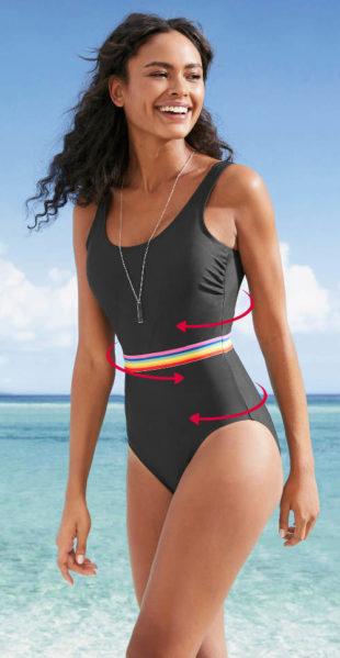 Stahovací dámské jednodílné sportovní plavky