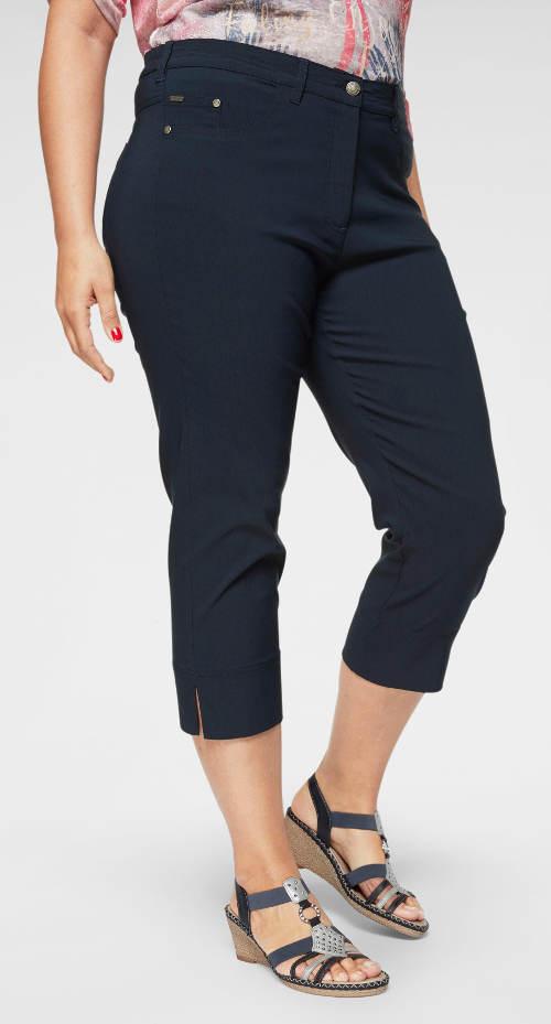 Tmavě modré dámské capri kalhoty