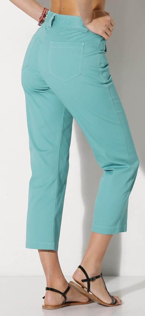 Barevné letní kalhoty pro plnoštíhlé