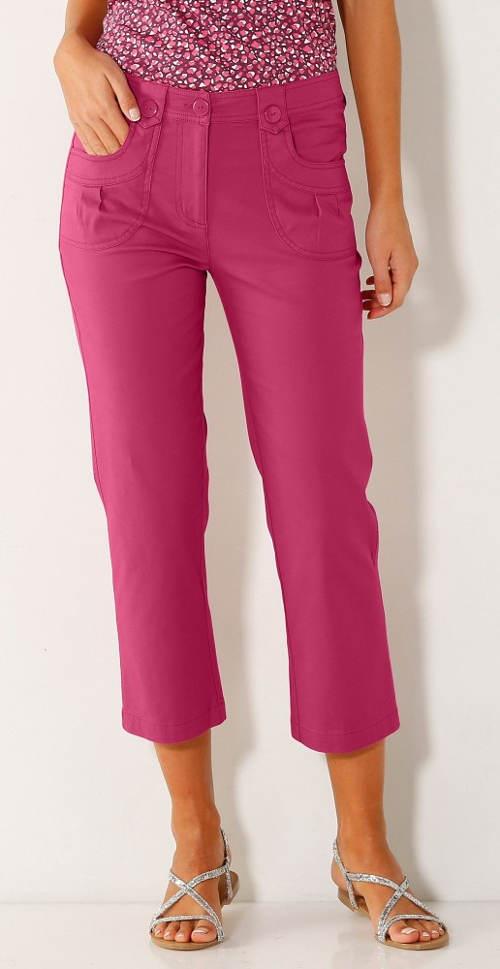 Fialové krátké letní kalhoty