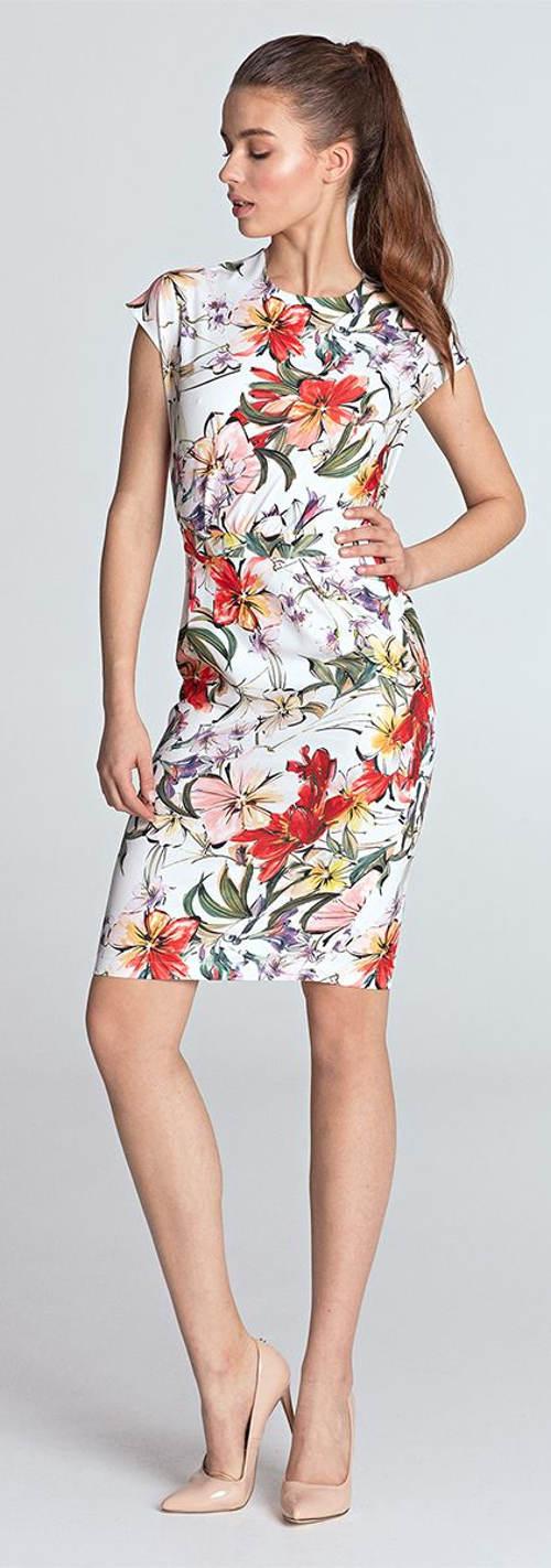 Krátké letní květinové šaty