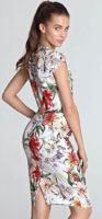 Květované letní společenské šaty pro plnoštíhlé