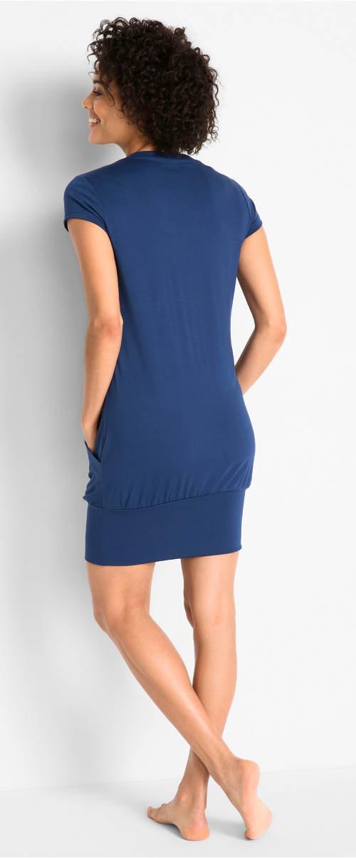 Modré dámské wellness šaty