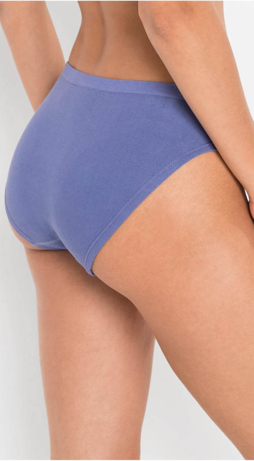 Modré žebrované kalhotky