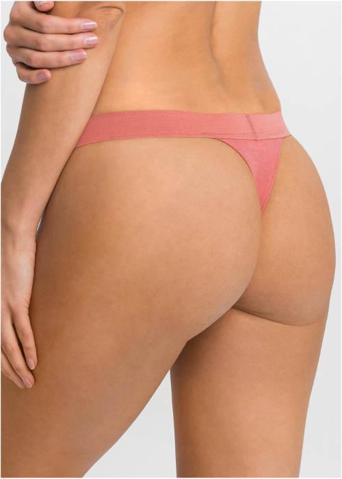 Růžové bavlněné kalhotky