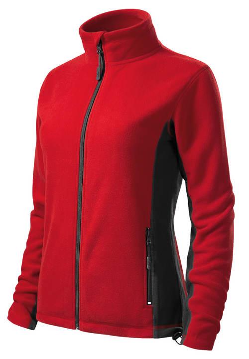 Červená dámská fleecová bunda