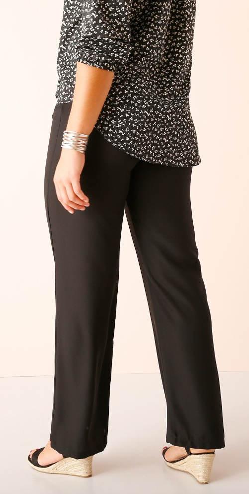 Dámské černé kalhoty pro plnoštíhlé