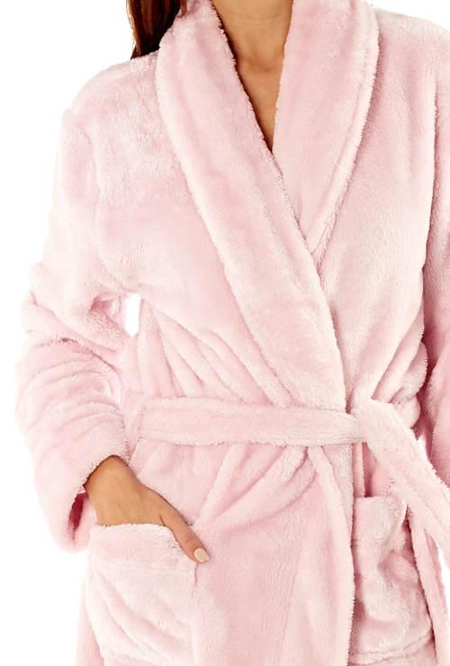 Hebounký růžový dámský župan