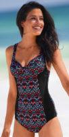 Jednodílné dámské tvarující plavky s kosticemi