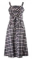 Karované letní šaty s páskem