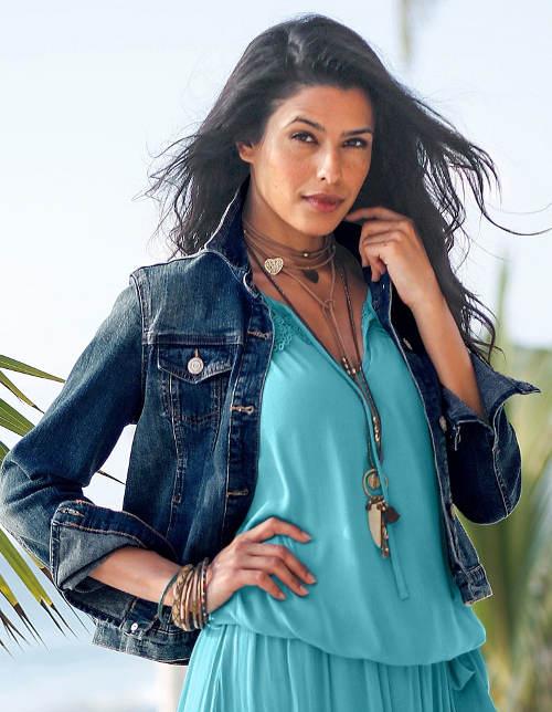 Lehká dámská džínová bunda