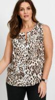 Leopardí dámský top pro plnoštíhlé