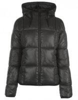Levná černá dámská zimní prošívaná bunda