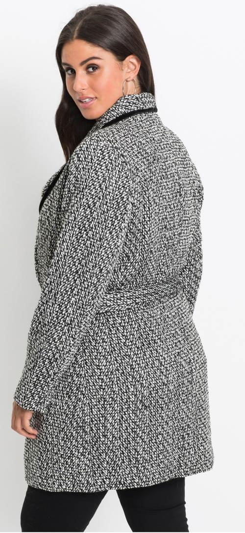 Levný šedý dámský kabát