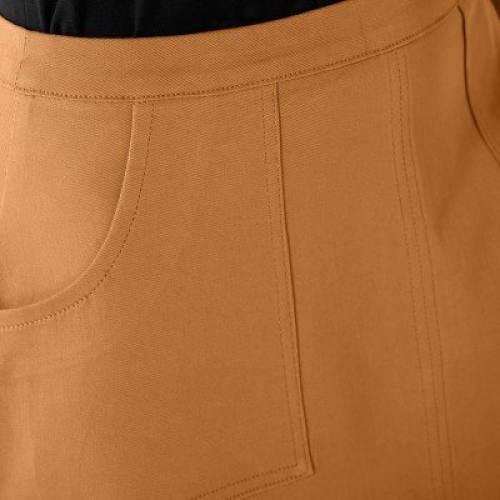 Medová sukně s kapsami
