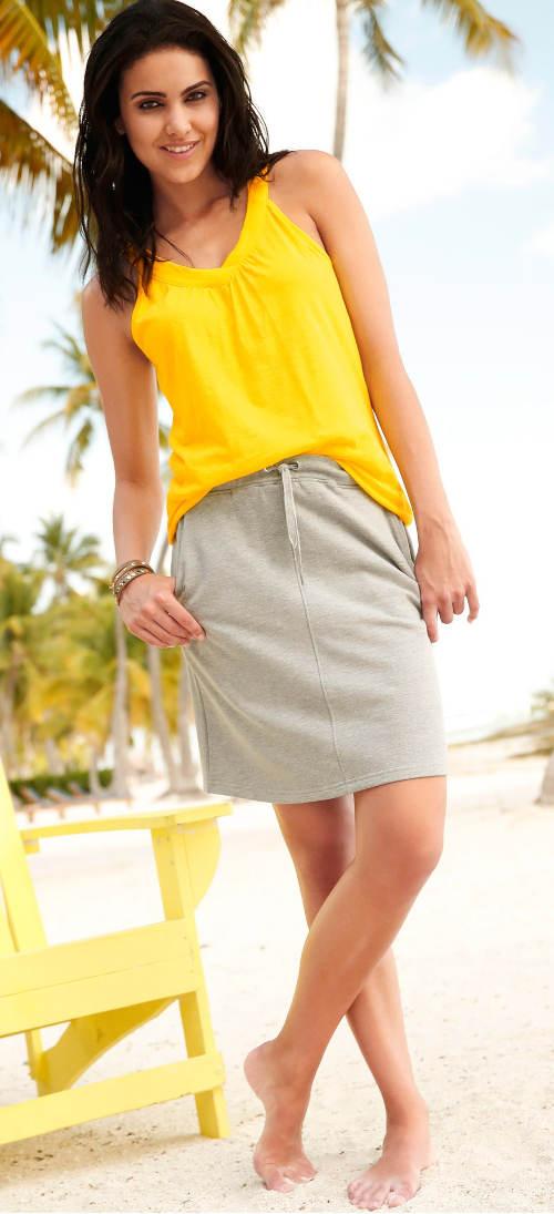 Pohodlná sukně na letní dovolenou