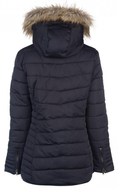 Prošívaná zimní bunda se zipy na rukávech