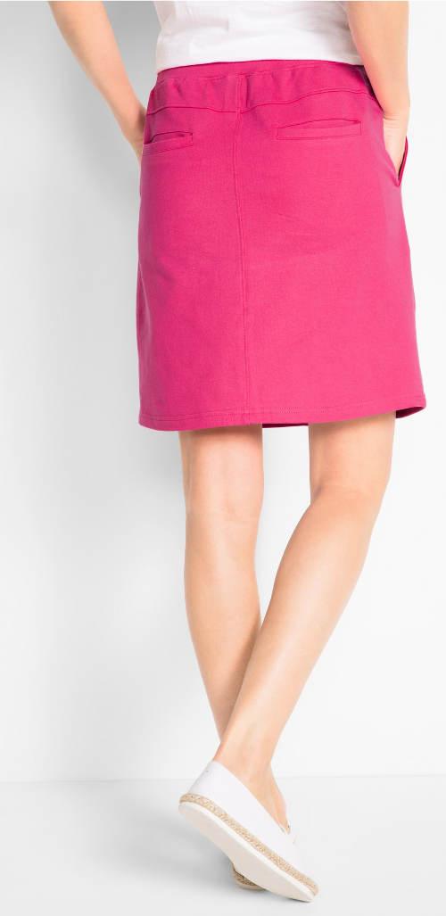Růžová dámská tepláková sukně