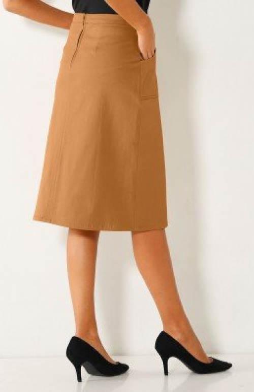 Světle hnědá dámská sukně