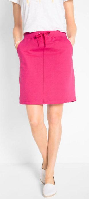 Úpletová tepláková sukně pro plnoštíhlé