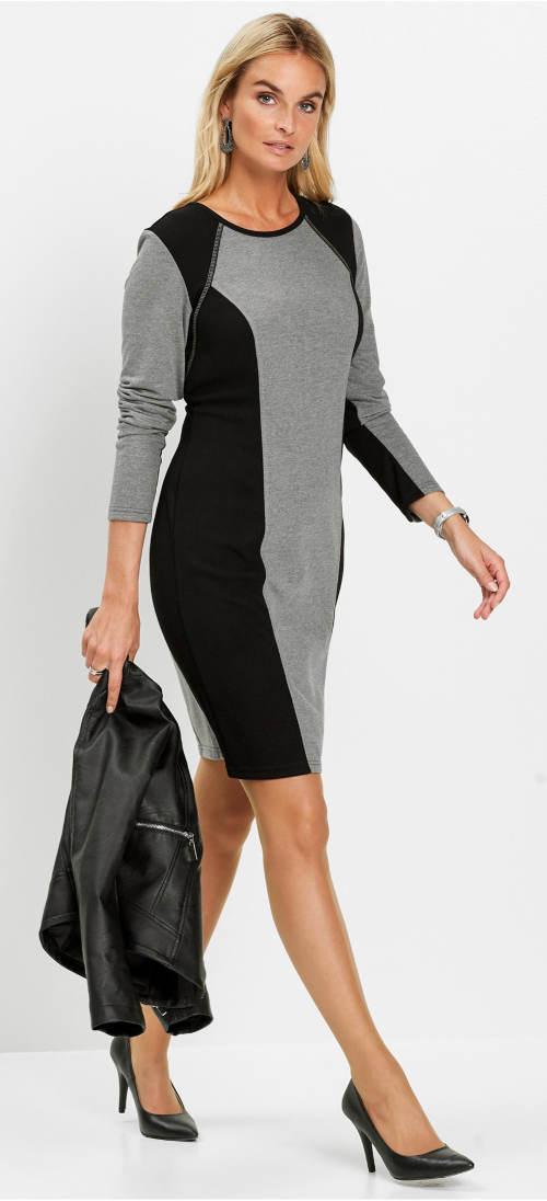 Úpletové mikinové šaty