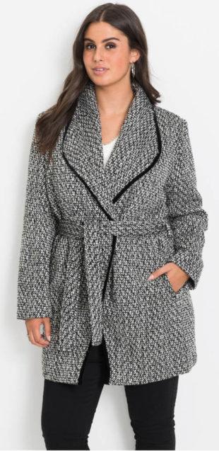 Zavinovací kabát pro plnoštíhlé - výprodej