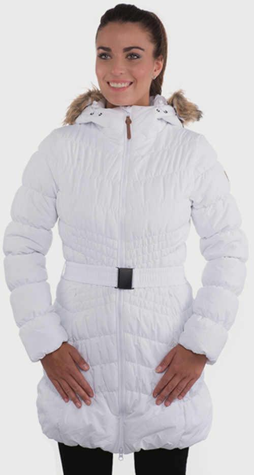 Dámský prošívaný zimní kabát bílé barvy