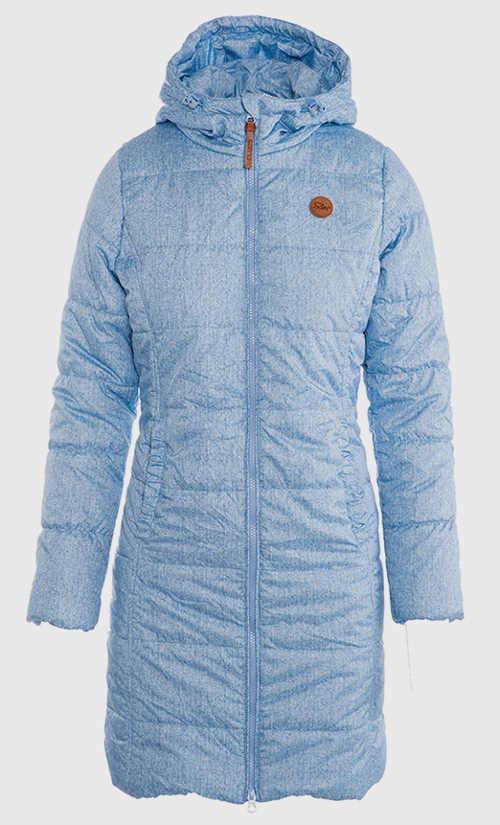 Prodloužený dámský prošívaný zimní kabát  pro plnoštíhlé