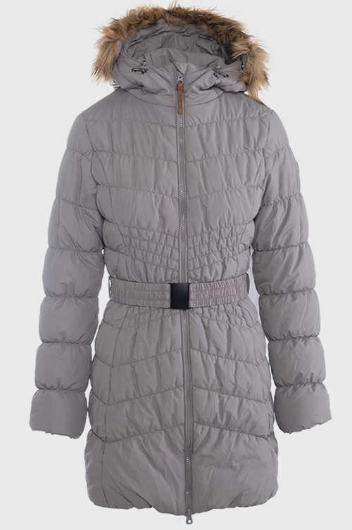Prošívaný dámský  plus size kabát