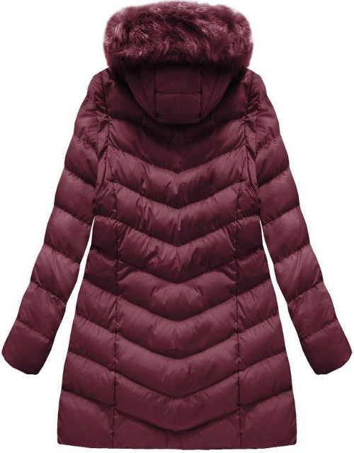 Dlouha-fialova-damska-zimni-bunda-pro-plnejsi-tvary