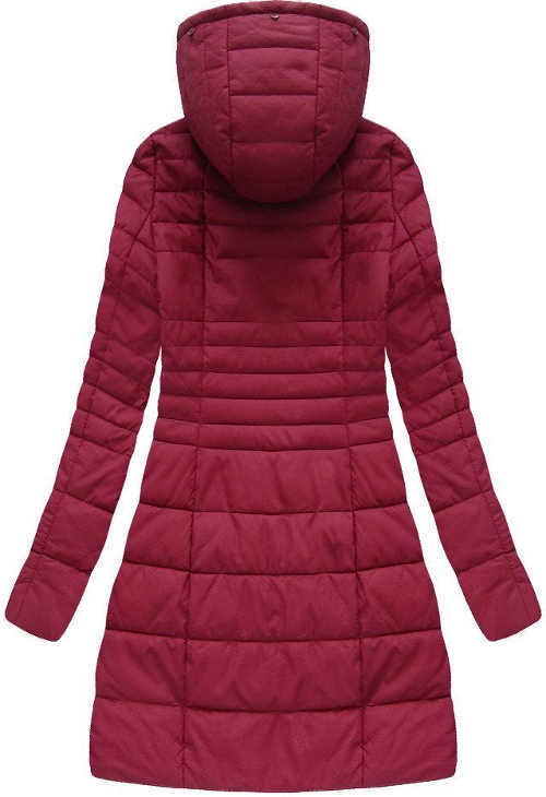 Dlouhá prošívaná dámská zimní bunda s kapucí