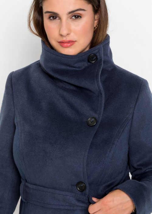 Hřejivý zimní kabát s páskem